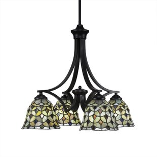 World Menagerie Cambridge 4-Light Shaded Chandelier