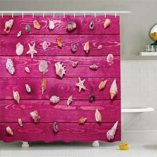 Rustic Home Little Sea Shells on Marine Coast Tropical Life Shower Curtain Set