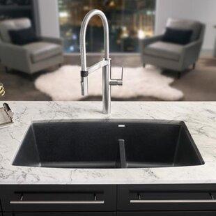 Sinks Kitchens Kitchen sinks youll love wayfair performa 33 x 19 2 basin undermount kitchen sink workwithnaturefo