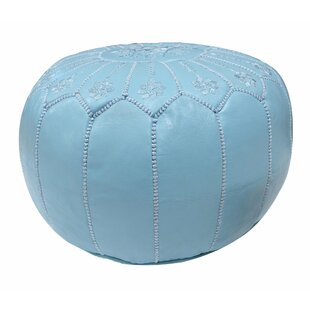 Moroccan Leather Pouf by Casablanca Market
