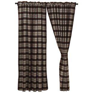 Shea Plaid and Check Blackout Rod Pocket Single Curtain Panel by Loon Peak