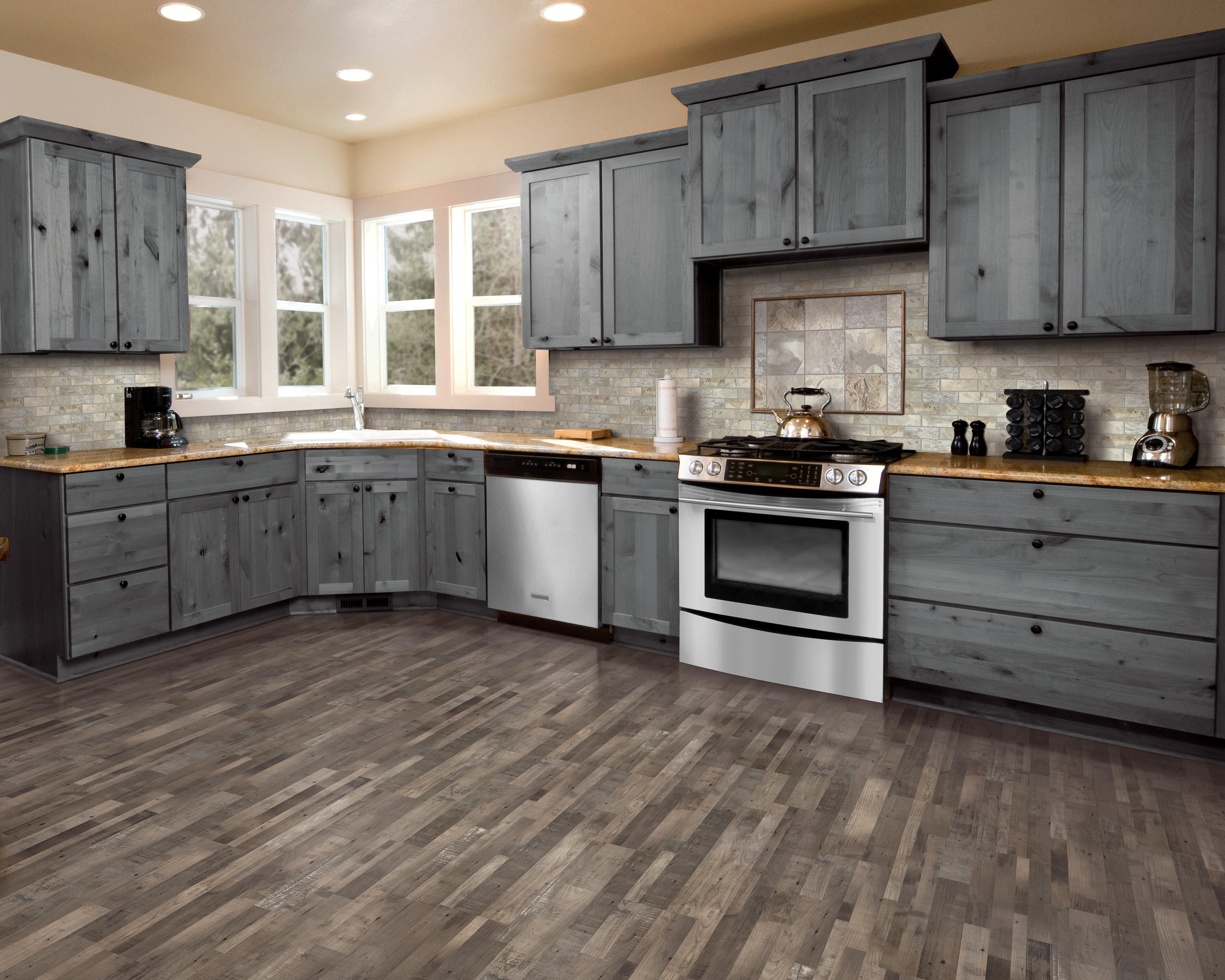 Mohawk 7 5 X 47 25 0 3mm Pine Laminate Flooring In Weathered Gray Wayfair