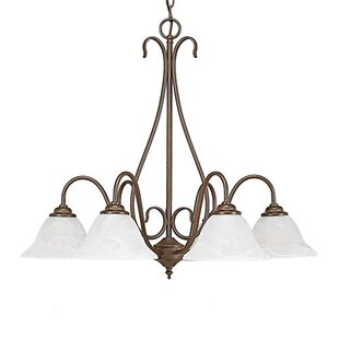 Three Posts Gilbert 6-Light Shaded Chandelier