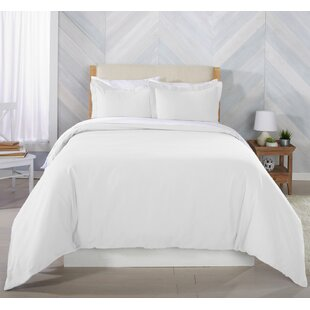 Rogin Extra Soft Solid Flannel Duvet Cover Set