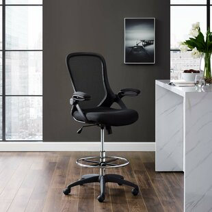 Cisco Ergonomic Mesh Drafting Chair by Ebern Designs Best