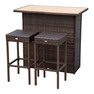 Hardt 3 Piece Bar Height Dining Set