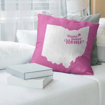 Wrought Studio Locust Grove Watercolour Throw Pillow Wayfair