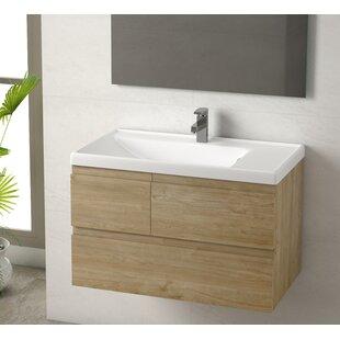 Jaramillo 32 Wall-Mounted Single Bathroom Vanity by Union Rustic