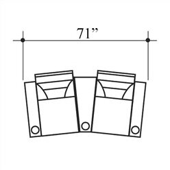 Tristar Home Theater Lounger Row of 2