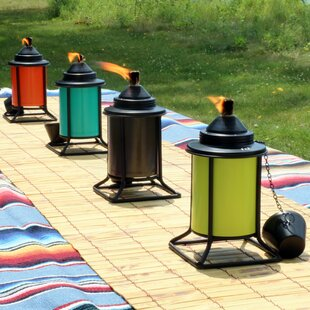 Alcott Hill Camille Outdoor Metal Tabletop Torch (Set of 4)