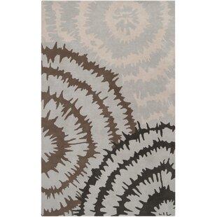 Harlequin Silvered Light Grey/Brown Floral Area Rug by Harlequin