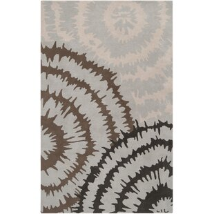 Harlequin Silvered Light Grey/Brown Floral Area Rug by Harlequin