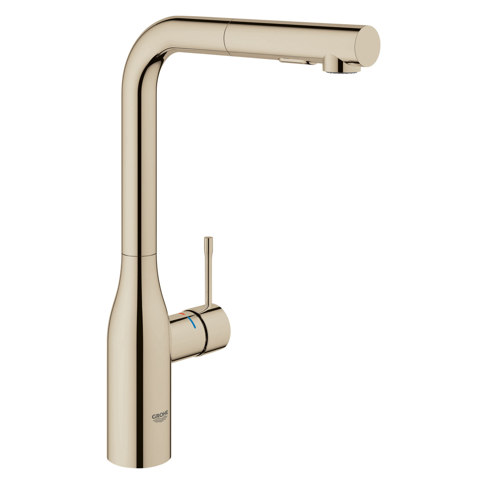 Grohe Essence Pull Out Single Handle Kitchen Faucet With Silkmove Reviews Wayfair