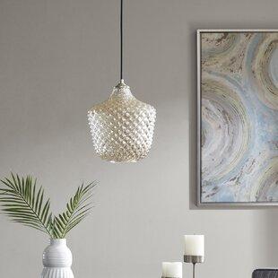 Wrought Studio Delcid Rounded 1-Light Schoolhouse Pendant