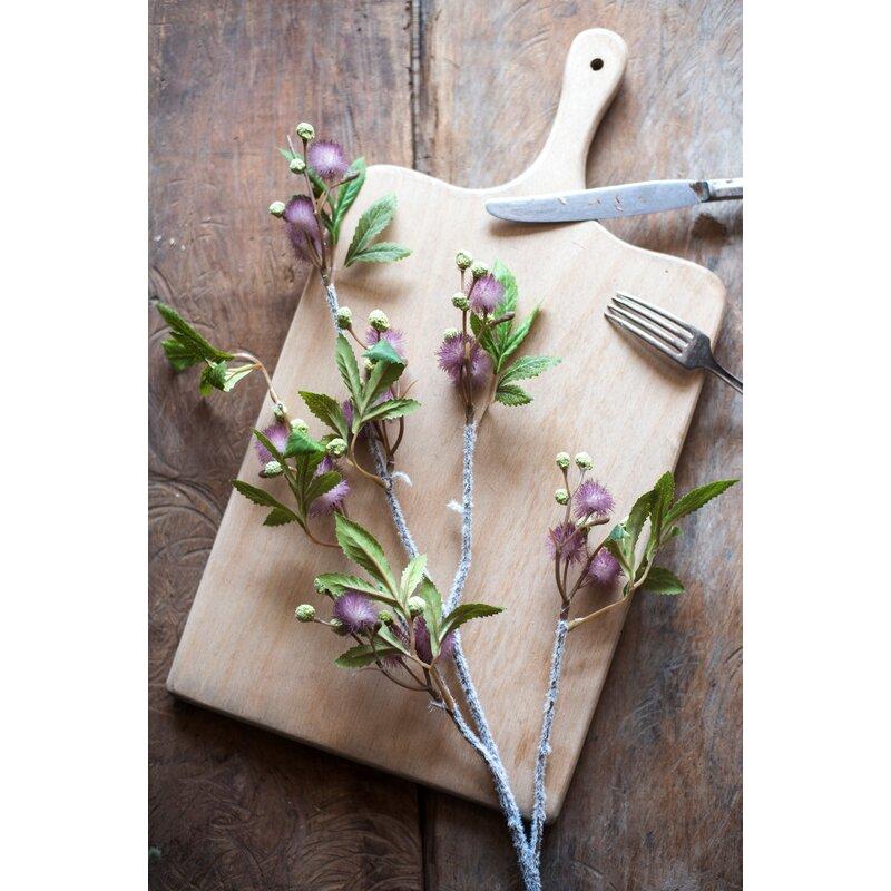 August Grove Artificial Calliandra Stems Bushes And Sprays Wayfair