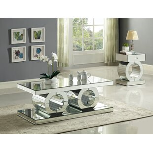 Everly Quinn Matthieu 2 Piece Coffee Table Set