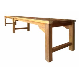 Ingrid Backless Teak Bench