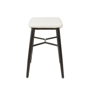 Seidl Saddle Upholstered Stationary Backless 24 Bar Stool by Williston Forge