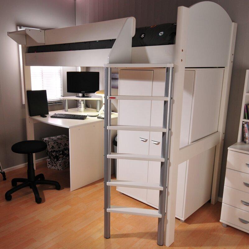 Casa Single High Sleeper Bed with Storage