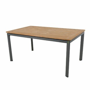 Cobden Teak/Aluminium Dining Table By Sol 72 Outdoor