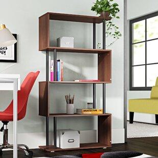 Buy luxury Pemberton Geometric Bookcase by Wrought Studio