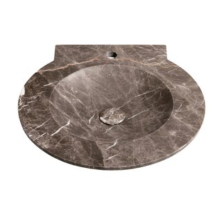 Ronbow Waterspace Stone Circular Drop-In Bathroom Sink