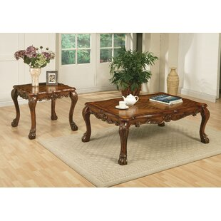 Astoria Grand Welliver 2 Piece Coffee Table Set