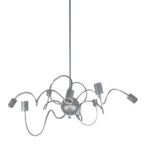 Whurler 8-Light Sputnik Chandelier by Radionic Hi Tech