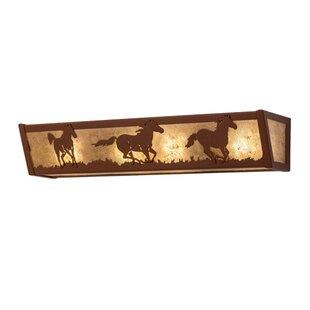 Meyda Tiffany Wild Horses 4-Light Bath Bar