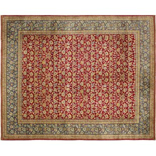 Best Choices Ankara Heathcote Hand Knotted Wool Red Area Rug ByWorld Menagerie