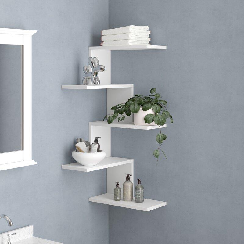 ac937c0e4240d Latitude Run Huddle Modern Wall Shelf   Reviews