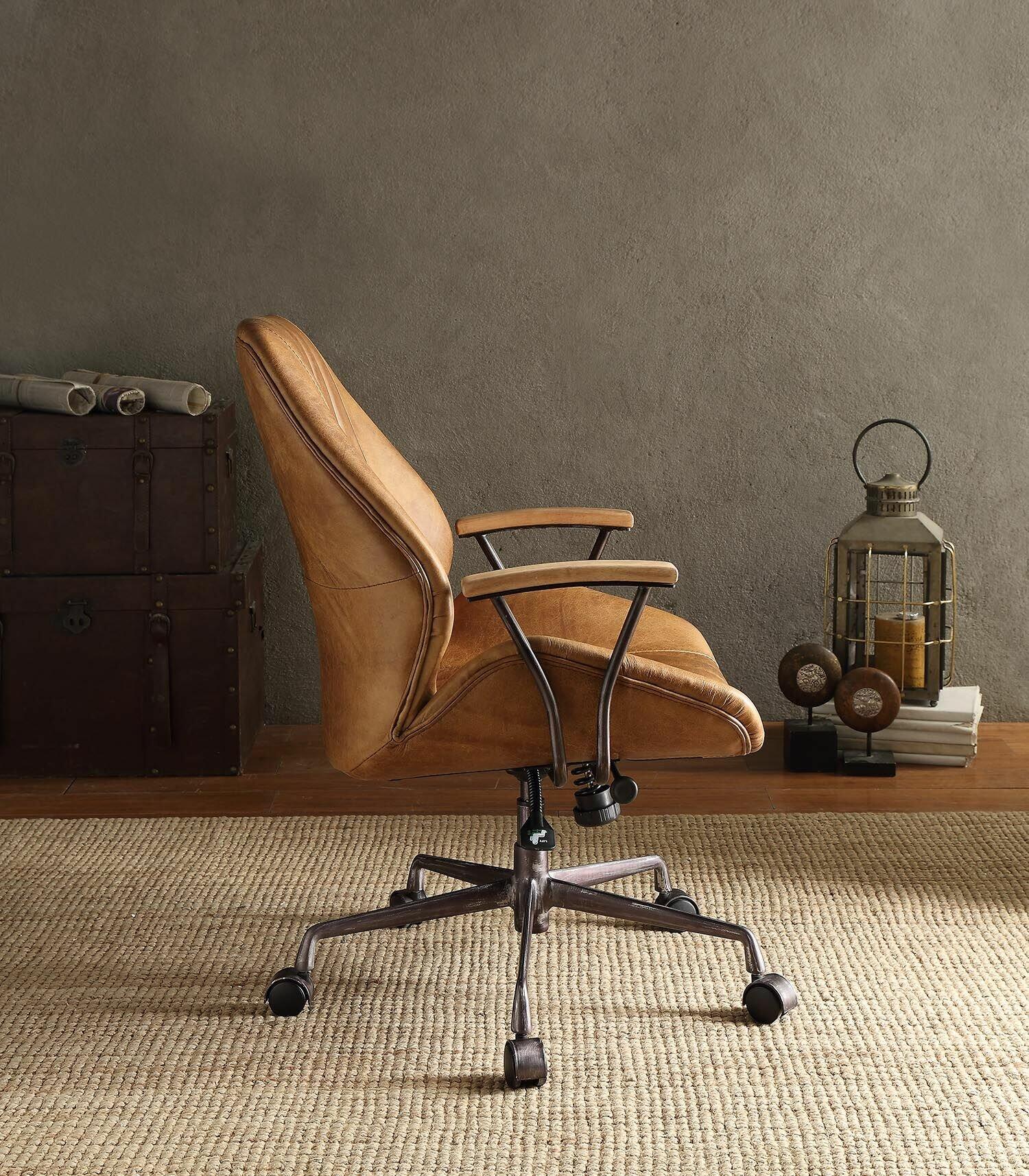 Major Q Top Grain Leather Office Task Chair Wayfair