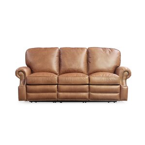 Darby Home Co DBHM5387 Longhorn Leather Reclining Sofa