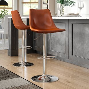Bivins Adjustable Height Swivel Bar Stool (Set of 2) by Brayden Studio