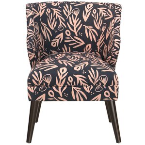 Alejandra Modern Bold Floral Linen/Cotton Armchair by Brayden Studio