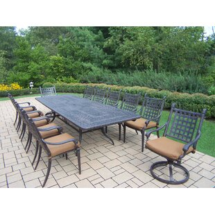 Darby Home Co Vandyne 13 Piece Extendable Dining Set with Cushions