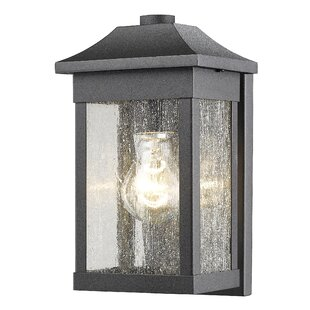 Loon Peak Astille 1-Light Glass Shade Outdoor Flush Mount