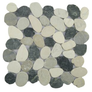 Sliced Random Sized Natural Stone Pebble Tile