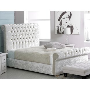 Compare Price Coraline Upholstered Sleigh Bed