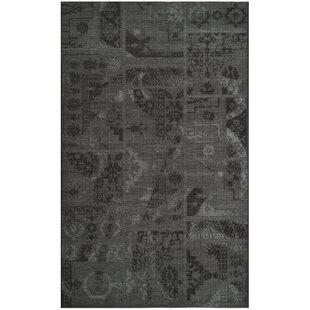 Riley Black/Grey Rug by Longweave