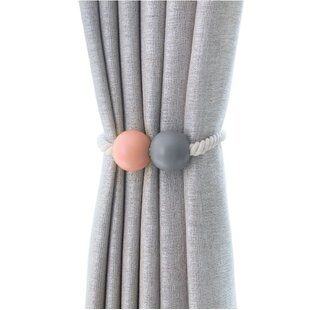 Oberle Ball Curtain Tieback (Set of 2) by Bungalow Rose
