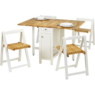 Alfreda Folding Dining Set With 4 Chairs By August Grove
