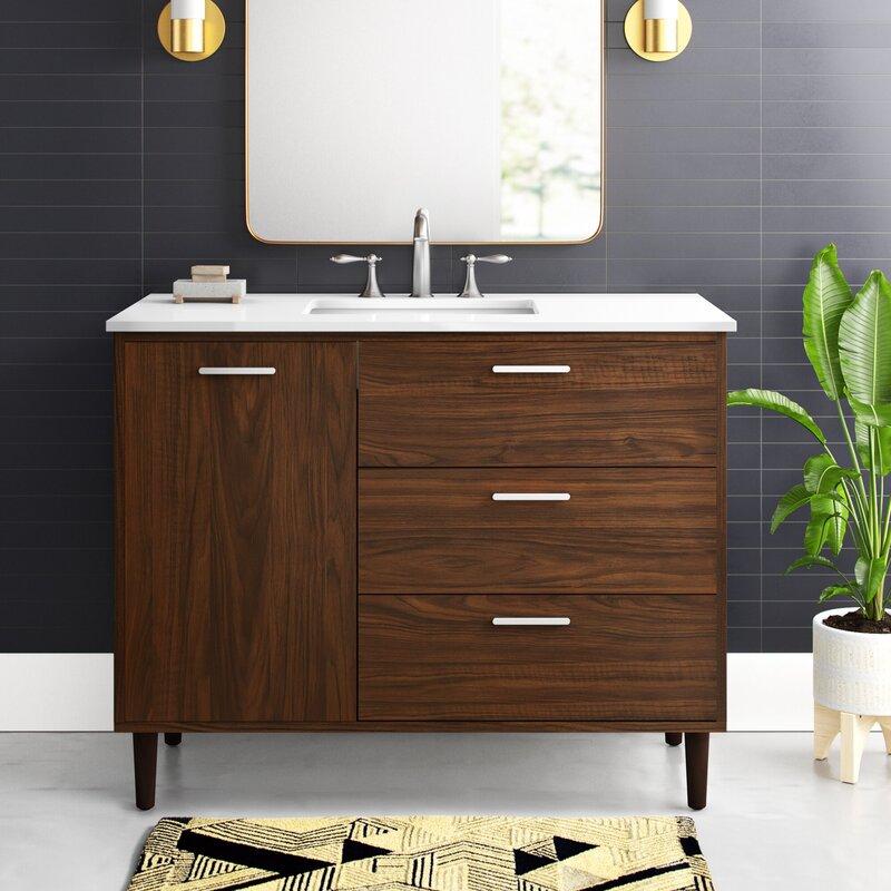 Mercury Row Burroughs 42 Single Bathroom Vanity Set Reviews Wayfair
