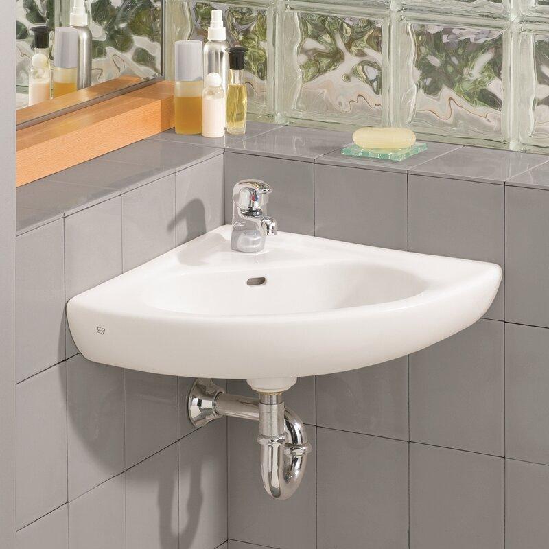 Cheviotproducts 15 75 Quot Corner Bathroom Sink With Overflow