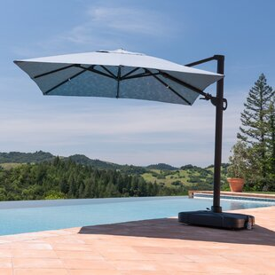 Bridgwater 9.8' Square Cantilever Sunbrella Umbrella by Freeport Park