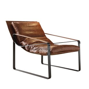 17 Stories Kassy Top Grain Leather Lounge Chair