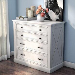 Laurel Foundry Modern Farmhouse Ryles 4 Drawer Standard Dresser