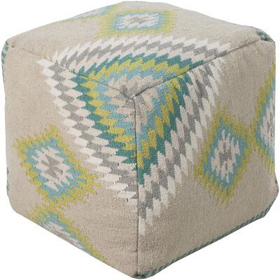 Aahana Pouf Upholstery: Beige by Bungalow Rose