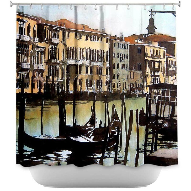 Views Over Venice Shower Curtain