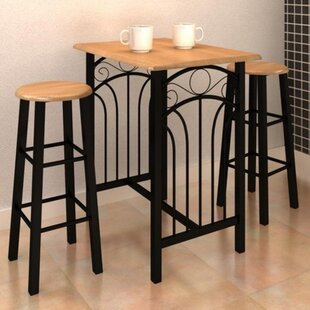 3 Piece Pub Table Set VidaXL